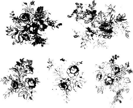 modern rock: flower rose element material