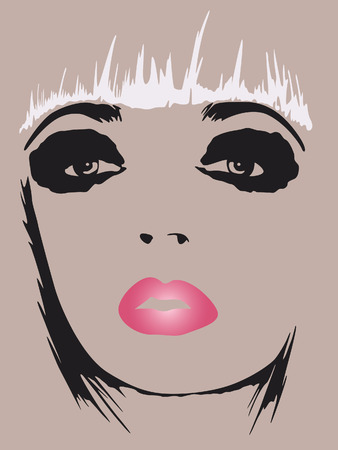 fashion woman pop art poster Stock Vector - 5376714