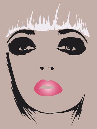 fashion woman pop art poster 向量圖像