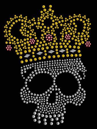 skull stone artwork Stock Vector - 5376726