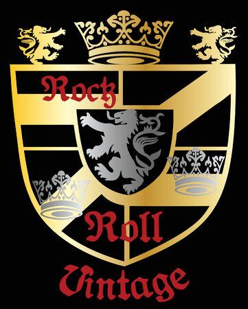 Classic Heraldic Royal Crest Shield Stock Vector - 5379852