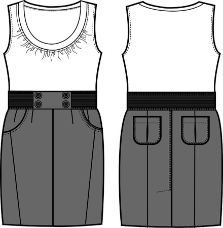 summer wear: lady fasion a-line dress