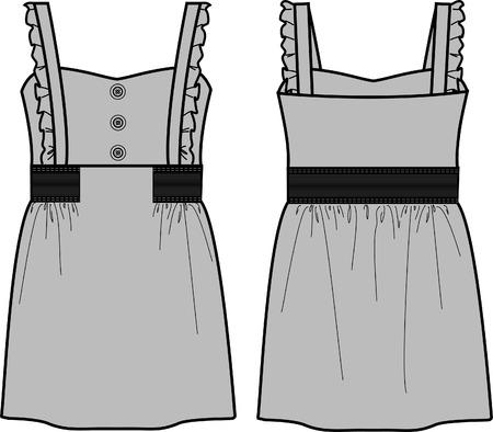 Lady fasion Robe ligne Vecteurs