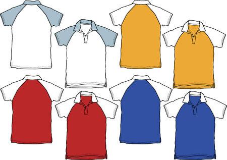 ポロ: 男の子のポロシャツのスポーツのユニフォーム