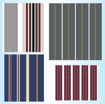 stripe pattern collection Vector