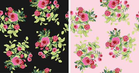 seamless fancy flower pattern Vector