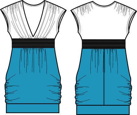 dame fasion a-lijn jurk