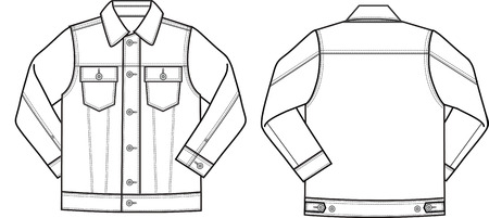 male denim jacket Vector