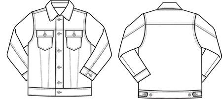 trendy male: male denim jacket Illustration