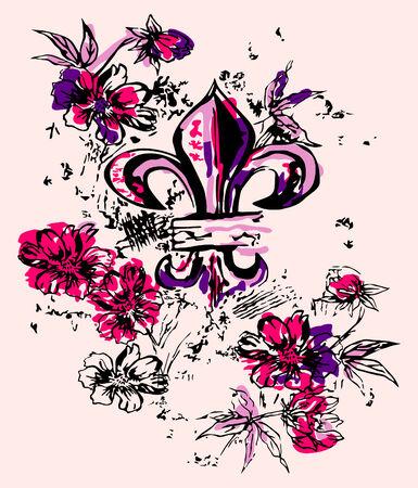 fancy heraldic royalty illustration Stock Vector - 5392816