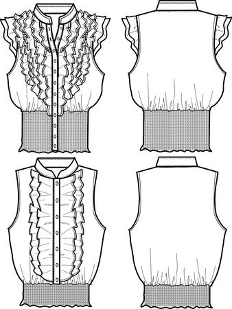 ふだん着: 女性のシフォン ブラウス