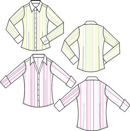 blusa: dama de la moda formal banda blusa