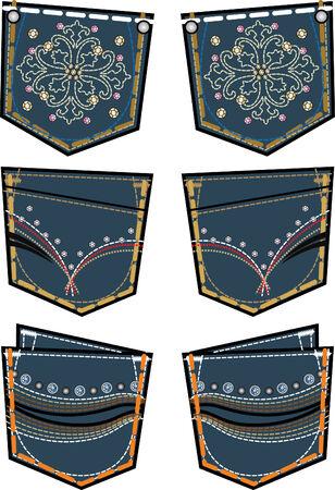 jeans de moda dama bolsillo trasero de dise�o Foto de archivo - 5393578