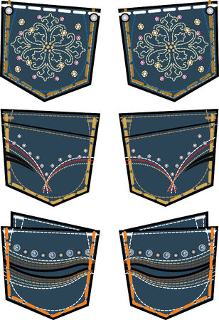 jeans de moda dama bolsillo trasero de diseño Foto de archivo - 5393578