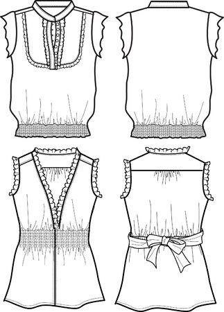 lady chiffon blouse Stock Vector - 5393579