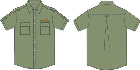 los hombres camisas militares