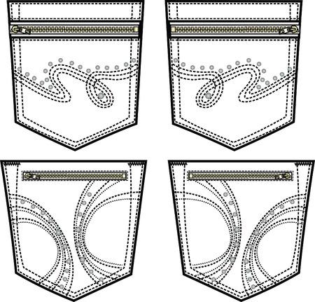 lady back pocket design