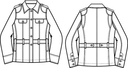 denim jacket: woman denim jacket Illustration