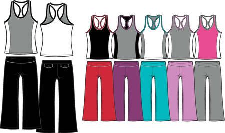 ladies sporty aerobic set Vector