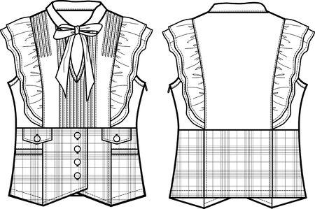 blusa: se�ora formal comprobar blusa