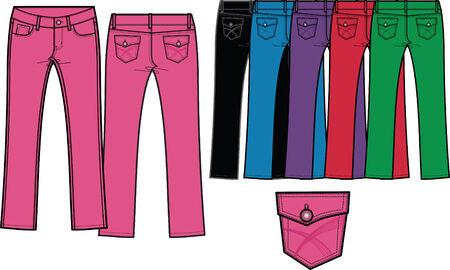 """denim jeans: Flaca """"jeans de mezclilla de color de Sharp"""