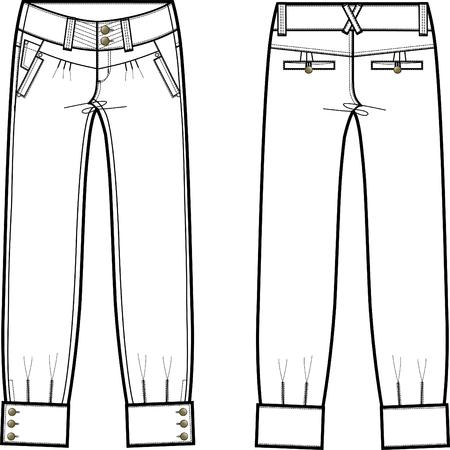 denim jeans: jeans dama con detalles