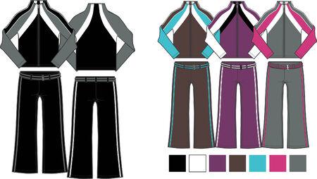lady fashion 2 piece set Vector