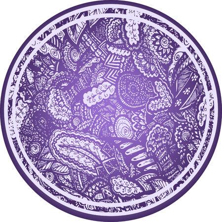 fortune flower: paisley flower element sphere