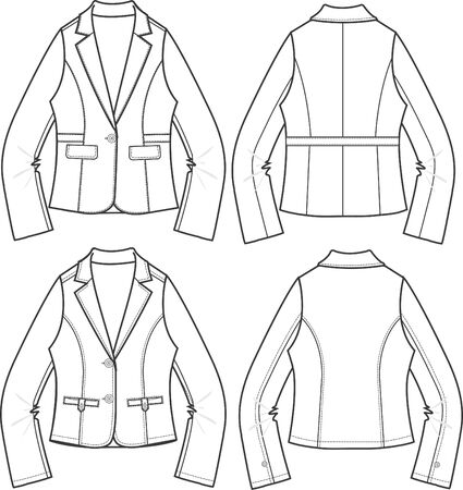 lady blazer formal jacket Vector