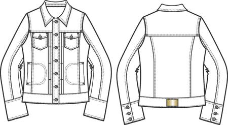 woman denim jackets Vector