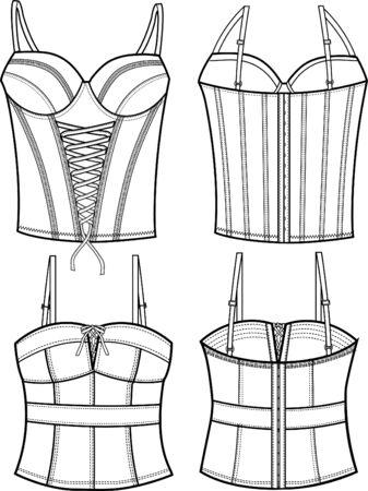corset: lady fashion corset Illustration