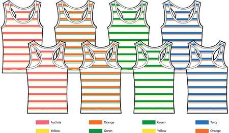 stripe pattern tank top vest Stock Vector - 5445076
