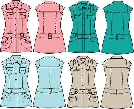 tunic: lady tunic blouse Illustration