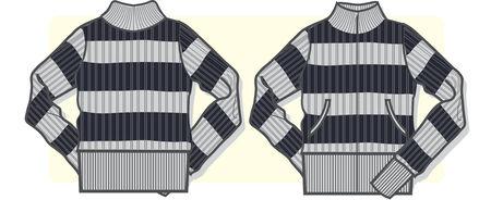 pullover: Dame zip-up Pullover Illustration