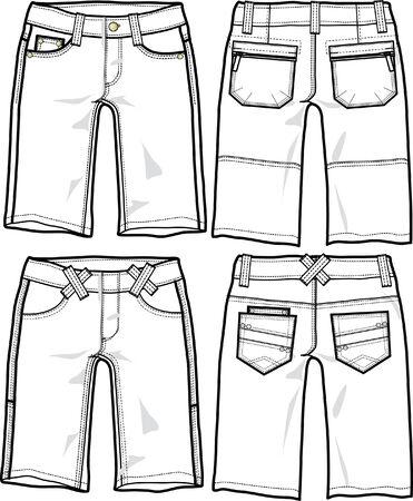 lady fashion torrero shorts
