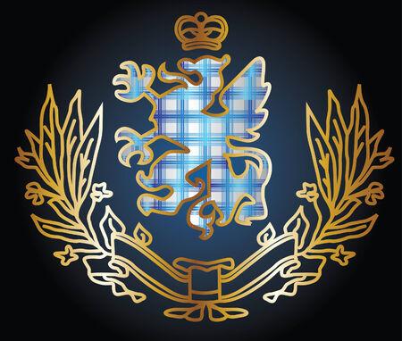 logo rock: gorgeous embl�me h�raldique aigle Illustration