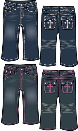 denim jeans: Denim Girl vaqueros de dise�o