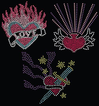 bead artwork collection Vector