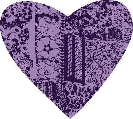 flower heart texture pattern Stock Vector - 5509752