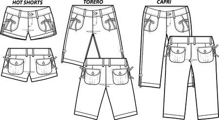 cortos dama de la moda en 3 de estilo