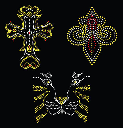 studs: bead artwork collection Illustration