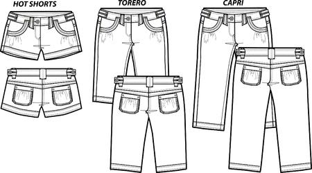 shorts: lady fashion shorts in 3 style
