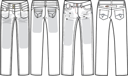 denim jeans: ladies denim jeans (skinny cut)  Illustration