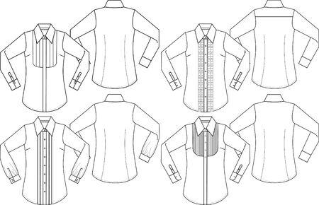 lady formal long sleeves shirts Vector