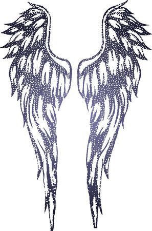 tribal wings: tribal wing illustration