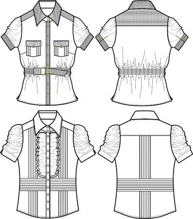 blouse: ladies blouse with detail Illustration