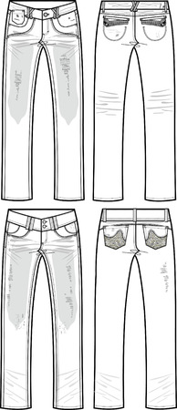denim jeans: jeans dama de rompe y destruido efecto