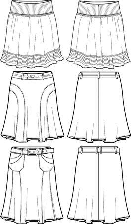 faldas: Medio dama faldas
