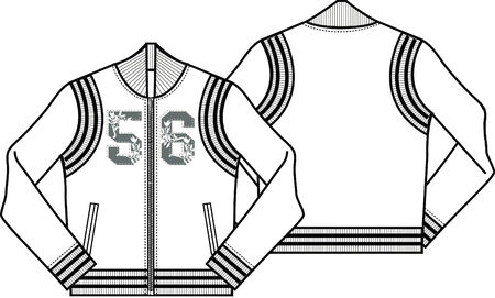 lady baseball style jacket Vector