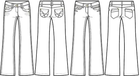 denim jeans bootcut Vector